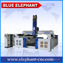 ELE 3050 China Styrofoam espuma máquina de corte do molde, 4 eixos atc cnc router para fabricação de moldes de madeira