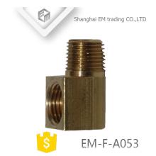 EM-F-A053 Latón macho rosca unión gruesa conector rápido codo tubo