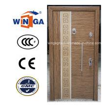 Estilo de Turquía Buena calidad Puerta blindada de madera de acero de MDF (W-T25)