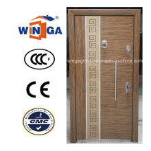 Turkey Style Good Quality MDF Steel Wood Armored Door (W-T25)