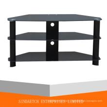 3 Tier Glass TV Table с готовой алюминиевой трубкой Mate
