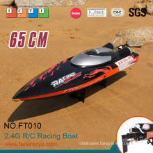 RC boat model 65 cm black 35km/h large high speed boat rc
