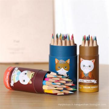 crayon de dessin de couleur en bois fantaisie