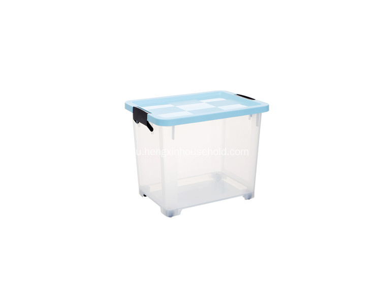 Transparent 20L Household  Storage Box with Lid