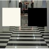 Super White and Black Polished Ceramic Tiles (CB6000)