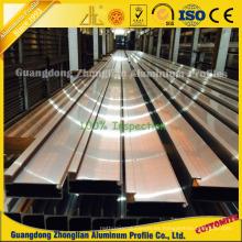Marco de aluminio anodizado de alta calidad para armarios de cocina
