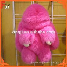 For Bags Rex Rabbit Fur Keychain