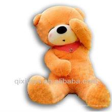светло-коричневый чучела дремлет медведь шарф плюшевый мишка