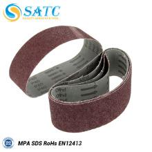 Aluminum oxide sanding belts for wide belt sander