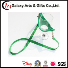 Promotioanl Gifts 15mm Custom Printed Polyester Wine Holder Lanyard