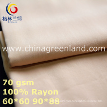 Cotton Rayon Plain Fabric to Shirt Blouse Garment (GLLML442)