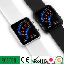 Mode LED Multifuction Kunststoff Uhr