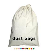Customized Oversize Durable Reusable Wash Storage Cotton Laundry Bag Hotel Canvas Drawstring Laundry Bag