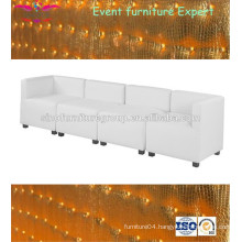 Hot sale white sectional I shaped sofa