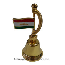Подарочный подарок Золотой цвет Индивидуальный металлический ужин Bell Souvenir (F8026)