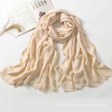 Dame Solid Color Rayon Schals Schals