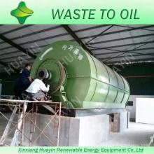 Une usine de recyclage de déchets en plastique va chercher de l'huile à partir de la ferraille Machine à pyrolyse continue des pneus