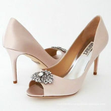 Pink Satin  Fish Mouth Women's Evening High Heels Bridal Pumps Shoes