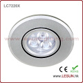 Long Lifespan Mini 3W LED Recessed Ceiling Lights for Showcase