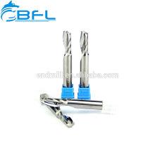 Fraise en bout à rainure simple en carbure monobloc BFL pour la coupe à grande vitesse de l'aluminium