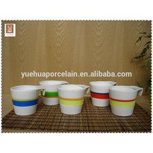 high quality ceramic coffee mug cup with silicone heat-resistant band