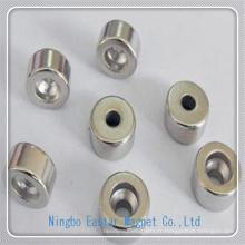 Aimant de NdFeB de cylindre personnalisé avec trou pour petits moteurs