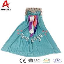 Melhor venda sólida personalizado impressão flanela barato cobertores de lã a granel para casa