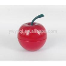 Popular hidratante bálsamo de labios de manzana redondo con sabor diferente