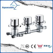 Válvula termostática de montagem em parede de banheiro / misturador de duche termostático com alça tripla
