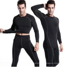 Homens de Fitness Running T-Shirt Alta Elastic Apertado Activewear Esportes Vestuário