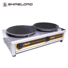 Equipo comercial de la cocina fabricante de crepé del gas de la cabeza solo / doble