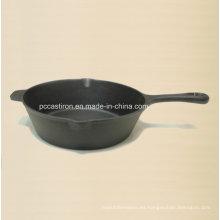 China Hierro fundido Camping Cookware Fábrica de proveedores de diámetro 27 cm