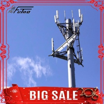 Steel galvanized microwave communications pole