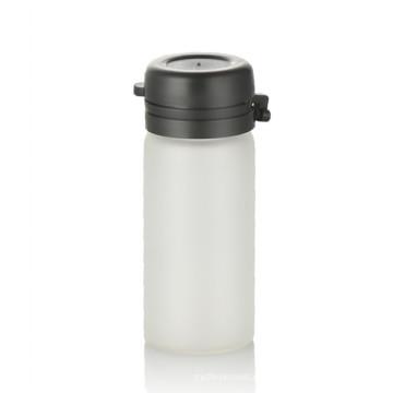 Botella de cristal esmerilada del embalaje de la botella de cristal esmerilada 3ml con el casquillo de rasgón negro