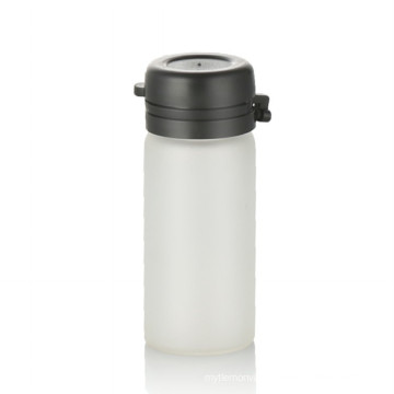 3ml frosted glass bottle cosmetic packing frosted glass bottle with black tear off cap