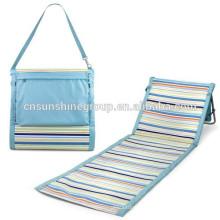 Stripe folding beach mat seat,Folding Beach Chair XY-132