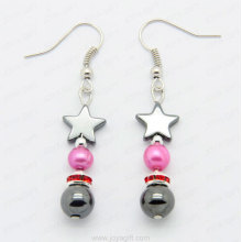 Fashion hematite star earring