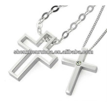 2015 cross pendant for couples stainless steel high polish pendant