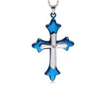 Top venda pingente de cruz, pingente de cruz de aço inoxidável, pingente de cruz de jesus