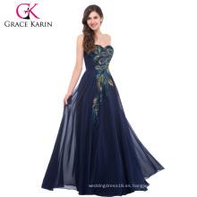 La venta al por mayor más el amor de la longitud del piso del tamaño Appliqued atractivo maduro más el vestido de noche del tamaño CL6168-5 #