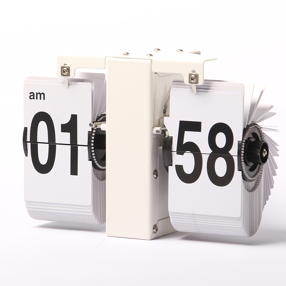 retro flip clocks wall