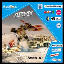 Oferta especial! 2015 elemento popular crianças 3d blocos de construção com bloco de construção de plástico exército 283pcs