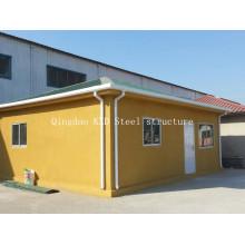 Casa da casa pré-fabricada do painel de sanduíche do cimento do EPS da isolação térmica
