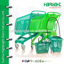 small simple portable folding shopping cart with accessories