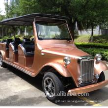 Klassisches elecgtric Auto mit 12 Sitzen rotes Weinlese für Verkauf