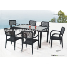Flower Weaving Rattan Wicker Outdoor Dining Set Bp-331