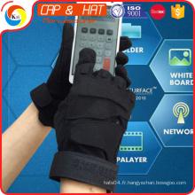 Vente en gros à bas prix gants d'écran tactile personnalisés de haute qualité logo personnalisé paire basse