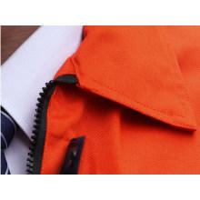 Ropa de trabajo la tela cruzada del algodón poliéster naranja