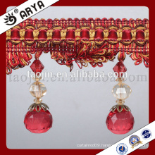 2016 Competitive products Decoration for Home and Curtain Accessories of Handcraft Crystal Beads Fringe