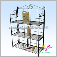 Free standing metal wire bathroom display rack for shampoo